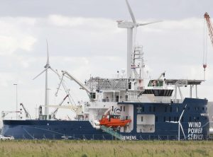 "Service Operation Vessel (SOV) ""Windea la Cour"" in Eemshaven"